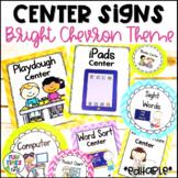 Center Signs EDITABLE   Bright Chevron
