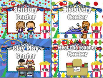 Center Signs (Bright Circus Theme)