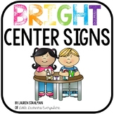 Center Signs - Bright Colors