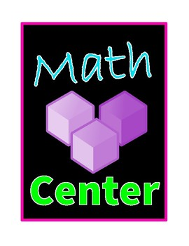 Center Signs (Bright Neon Colors)