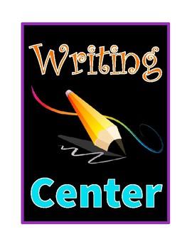 Center Signs (Bright Neon Colors)