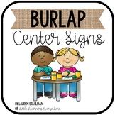 Center Signs - Burlap