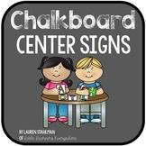 Center Signs - Chalkboard