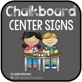 Center Signs - Chalkboard