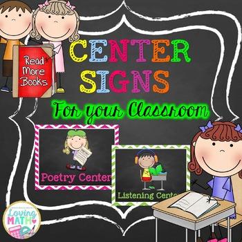 Center Signs Chalkboard {EDITABLE}