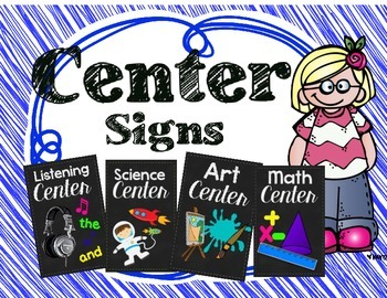 Center Signs Chalkboard Theme