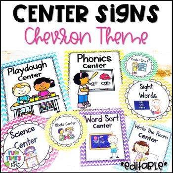 Center Signs {Chevron Theme}