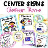 Center Signs EDITABLE   Chevron