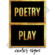 Center Signs - Classroom Decor Black and Gold