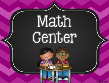Center Signs (Colorful Chevron & Chalkboard Theme)