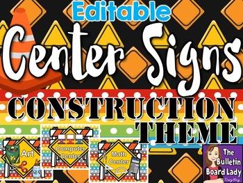 Center Signs Construction Theme