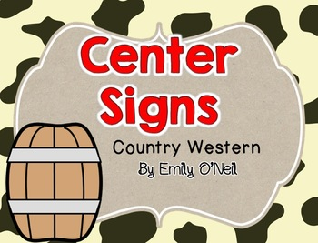 Center Signs (Country Western Theme)