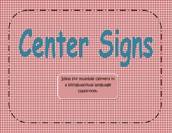 Center Signs Diamond Red