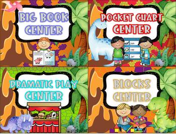 Center Signs (Dinosaur Theme)