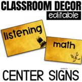 Center Labels Editable   Classroom Decor