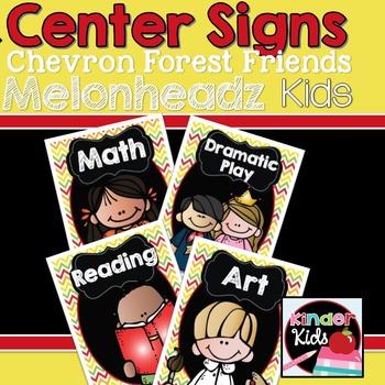 Center Signs {Forest Friends Melonheadz Kids Edition} EDITABLE