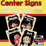Center Signs {Forest Friends Melonheadz Kids Edition} EDITABLE