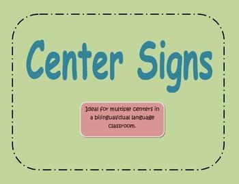 Center Signs Green