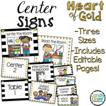 Center Signs - Heart of Gold