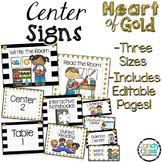 Classroom Center Signs Editable Options: Classroom Center Organization