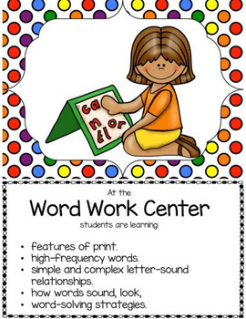 47 Center Signs  With Objectives and Editable Student Cards