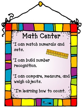Center Signs: Justify & Explain the Importance of Centers & Play - Fun & Cute!