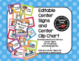 Center Signs and Center Clip Chart - EDITABLE! - Cute Polka Dots