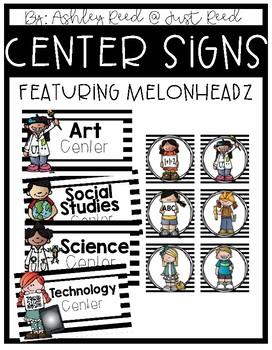 Center Signs {Melonheadz Edition}