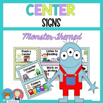 Center Signs {Mini Monster Themed}