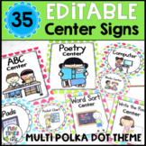Center Signs EDITABLE (Multi Polka Dot)