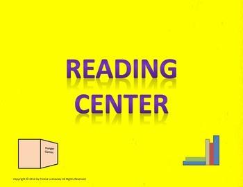 "Center Signs 8.5""x11"" Neon"