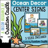 Center Signs - Ocean Decor