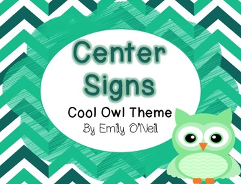 Center Signs (Owl Theme)