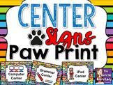 Center Signs Paw Print Theme