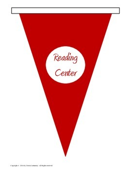 """Center Signs Pennant 8.5""""x11"""""""