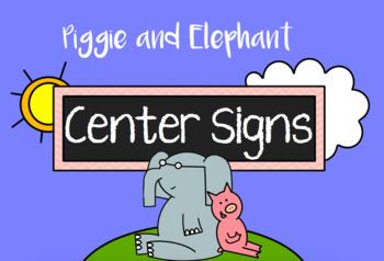 Center Signs - Pig & Elephant