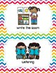Center Signs (Pocket chart size & half-page) - Rainbow Che