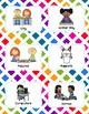 Center Signs (Pocket chart size & half-page) - Rainbow  Theme Classroom