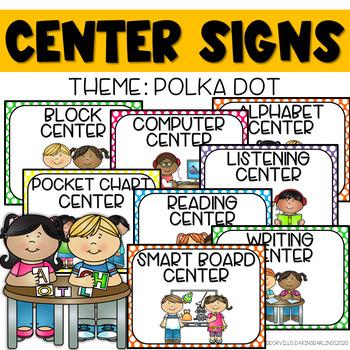 Center Signs - Polka Dot