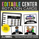 Center Signs | Printable & Digital Center Rotations | Editable