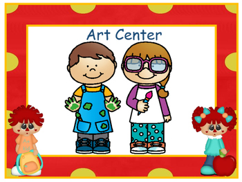 Centers Signs - Raggedy Theme