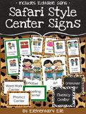 Center Signs - Safari Style Theme {Jungle and Animal Print}