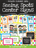 Center Signs - Seeing Spots Theme {Bright and Polka Dot}