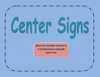 Center Signs Sky Blue