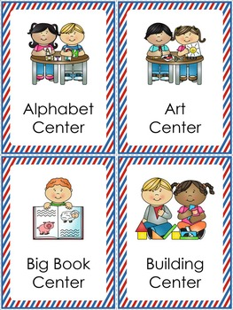 Center Signs - Stars and Stripes Theme {Red, White, and Blue}