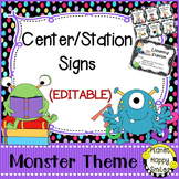 Center Signs and Station Signs (EDITABLE) Monsters