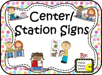 Center Signs ~ Station Signs (Polka Dot)