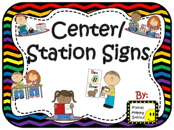 Center Signs ~ Station Signs (Rainbow and Black Chevron)