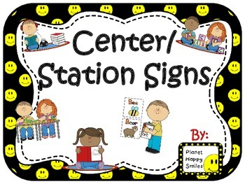 Center Signs ~ Station Signs (Smiley Face, Happy Face Theme)