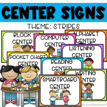 Center Signs - Stripes